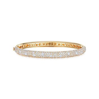 Cobblestone Bangle with Pave Diamonds