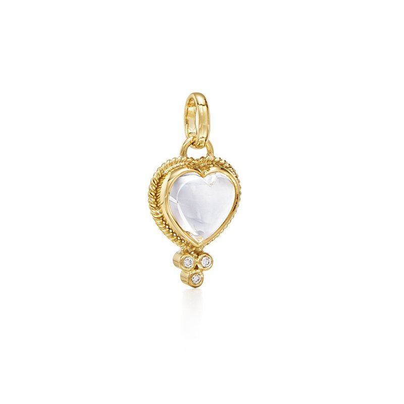 Temple St. Clair Rock Crystal Heart Pendant