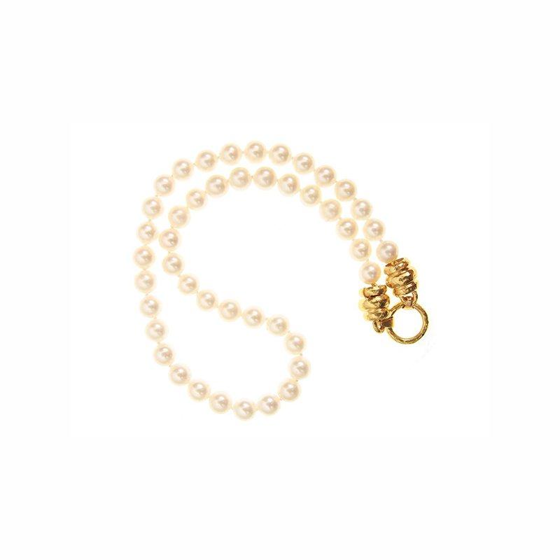 "Elizabeth Locke Pearl Necklace with ""Martin"" Clasp-17"""