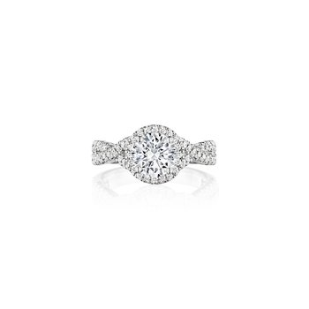 Vintage Style Diamond Engagement Ring Mounting