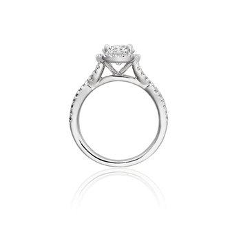 Vintage Style Diamond Engagement Ring Mounting