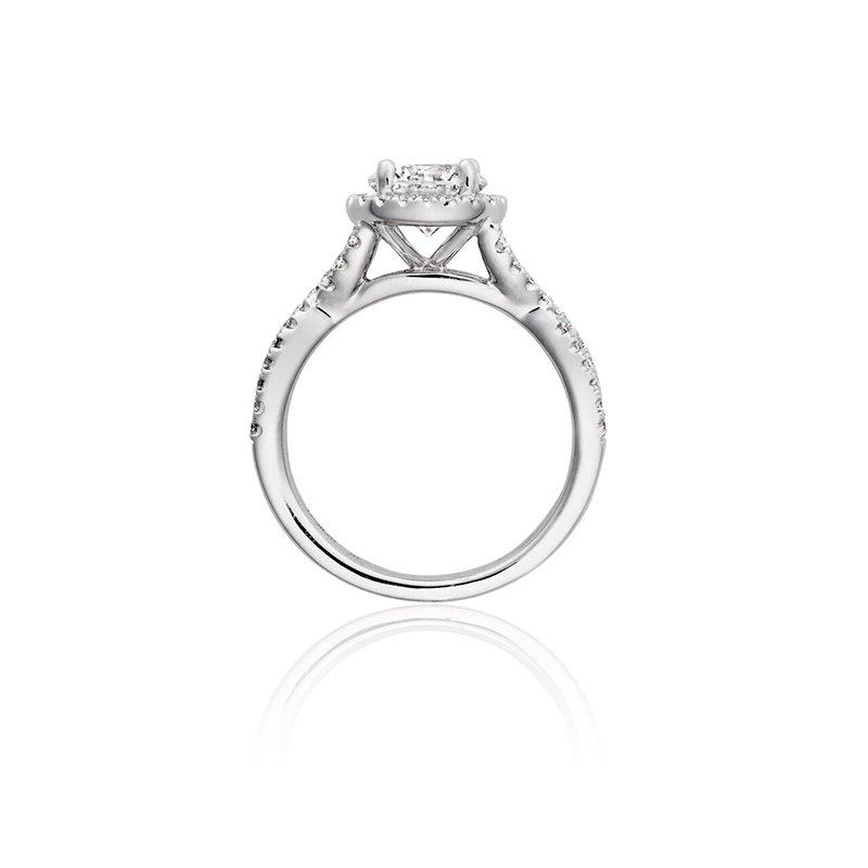 Henri Daussi Vintage Style Diamond Engagement Ring Mounting