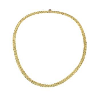 Basket Weave Choker Necklace