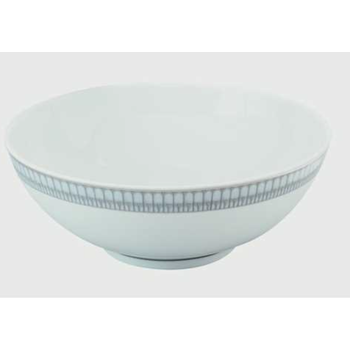 Arcades Grey & Platinum Serving Bowl