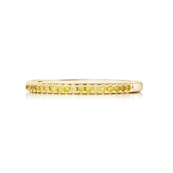 Natural Fancy Yellow Diamond Wedding Band