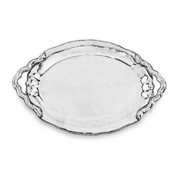 Pearl Denisse Oval Tray with Handles