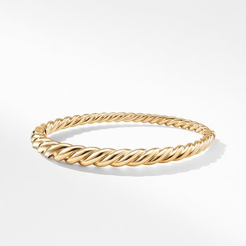 Pure Form Cable Bracelet in 18K Gold, 6mm