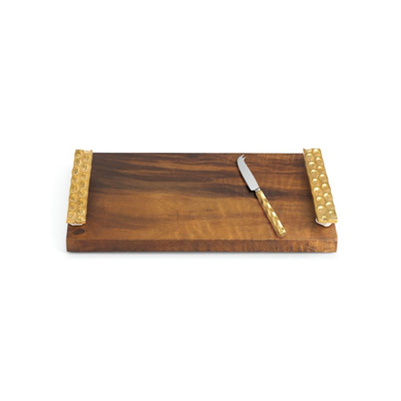 Michael Wainwright Truro Gold Cheese Tray with Knife