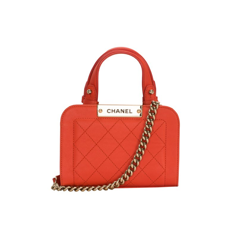 CHANEL Mini Matelasse Top Handle Bag