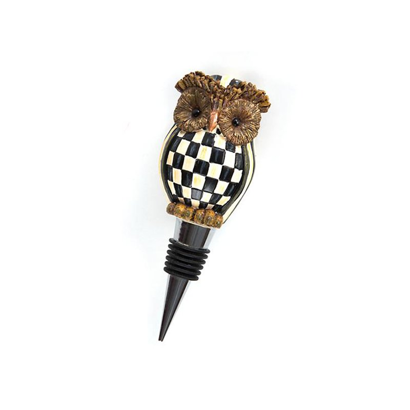 Mackenzie-Childs Hoot Owl Bottle Stopper
