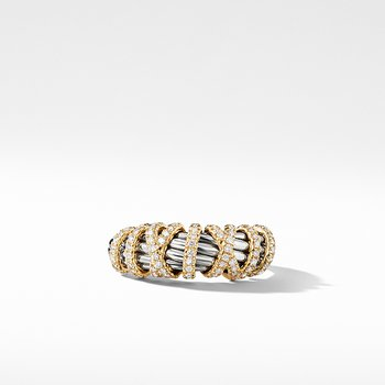 Helena Ring with Diamonds and 18K Gold, 8mm