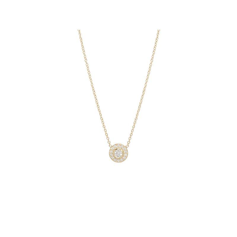 Zoe Chicco Diamond Halo Necklace