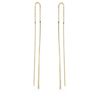 Hammered Wire Threader Earrings