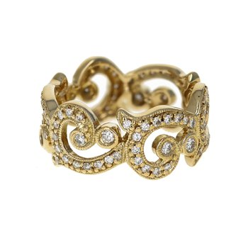 Open Swirl Diamond Ring