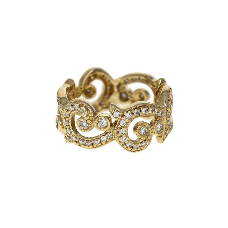 Estate Radcliffe Open Swirl Diamond Ring