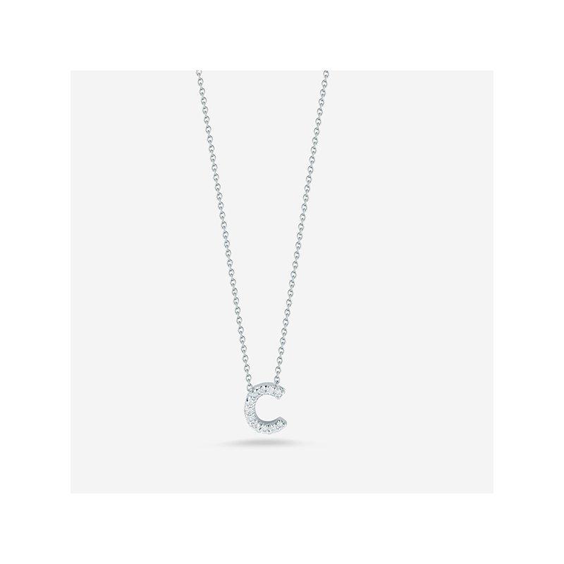 "Roberto Coin Diamond ""C"" Pendant"