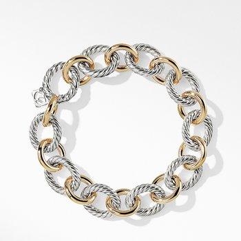 Oval Large Link Bracelet with Gold