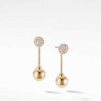 Solari Chain Drop Earring in 18K Yellow Gold with Diamonds