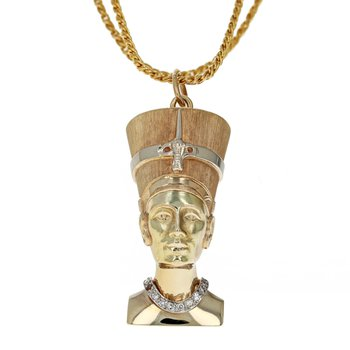 Queen Nefertiti Diamond Pendant Necklace
