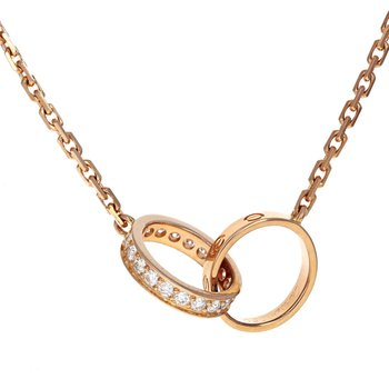 Interlocking Diamond Love Necklace