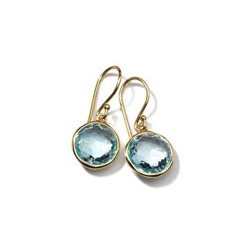 Lollipop Small Blue Topaz Drop Earrings