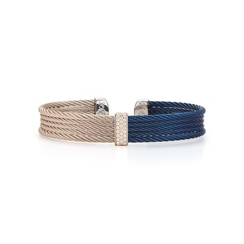 Blueberry & Carnation Cable Mini Cuff