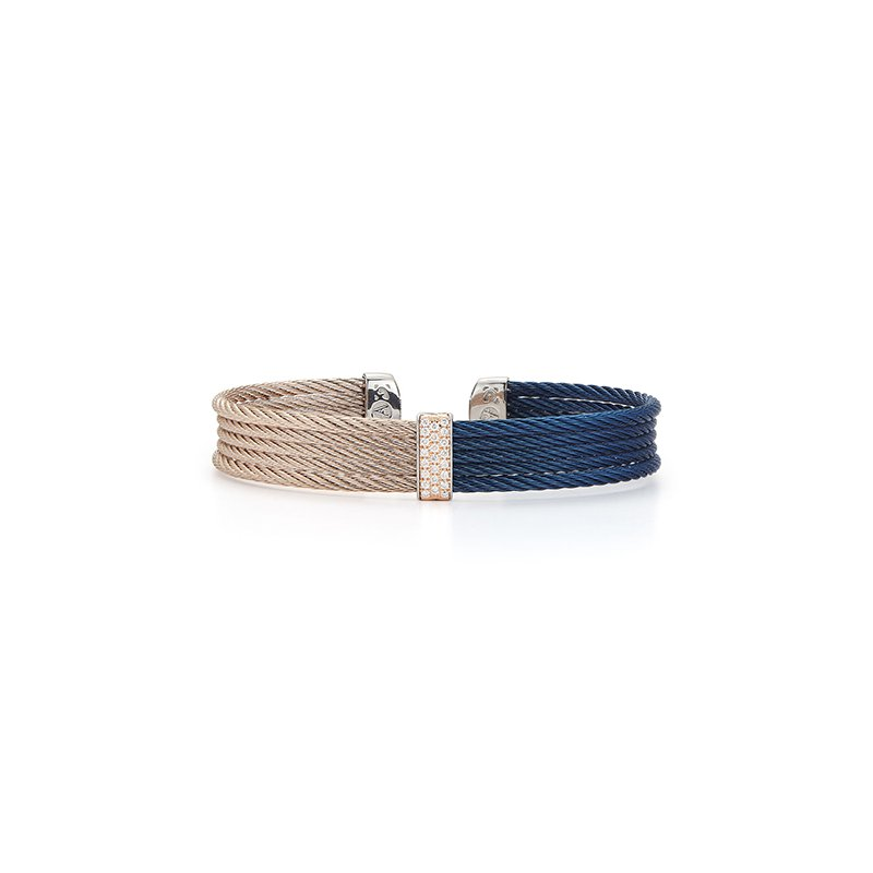 ALOR Blueberry & Carnation Cable Mini Cuff
