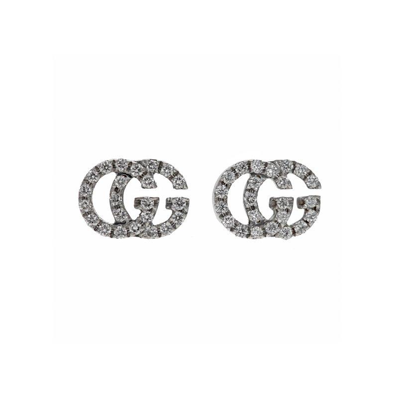 Estate Gucci GG Running Diamond Earrings