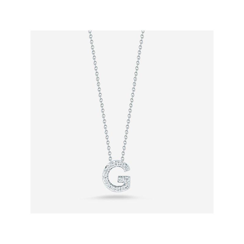 """Roberto Coin Diamond """"G"""" Pendant"""