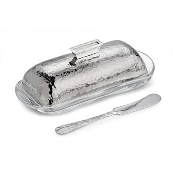 Hammertone Butter Dish with Knife