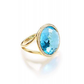 Lollipop Swiss Blue Topaz Ring