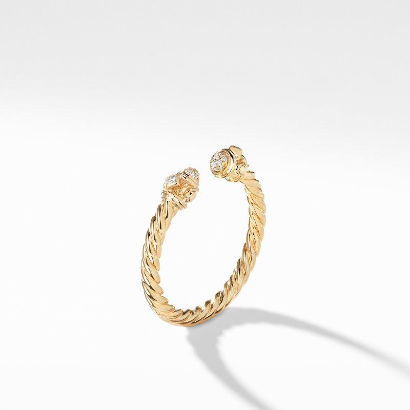 David Yurman Renaissance Ring in 18K Gold with Diamonds