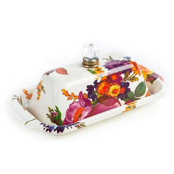 Flower Market Butter Box, White