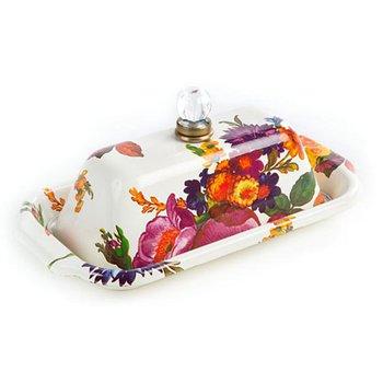 Flower Market Butter Box, White