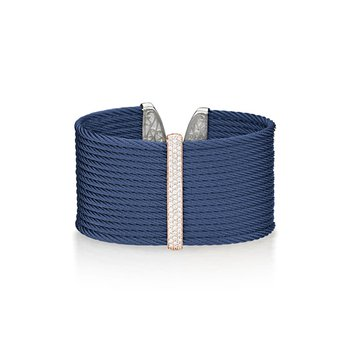 Blueberry Cable Large Monochrome Cuff