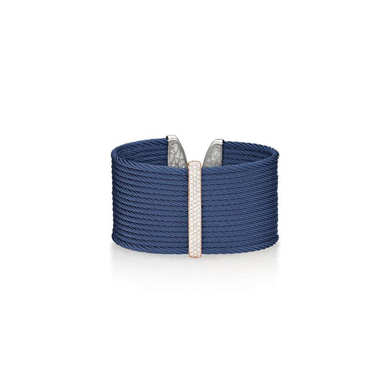 ALOR Blueberry Cable Large Monochrome Cuff