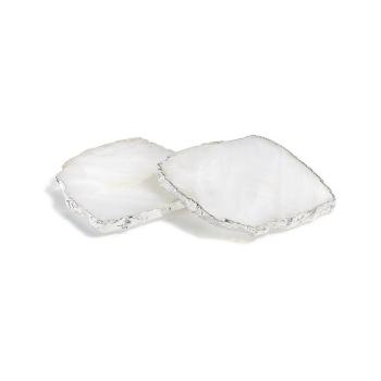 Kivita Coasters, Crystal + Silver
