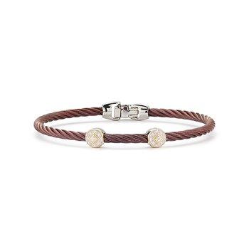 Burgundy Cable Essential Stackable Bracelet