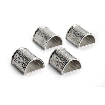Hammertone Napkin Ring Set