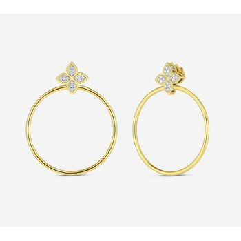 Princess Flower Hoop Earrings