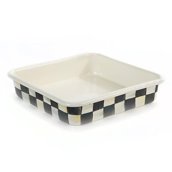 Courtly Check Enamel Baking Pan-8""