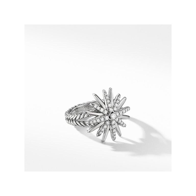 David Yurman Starburst Ring with Pave Diamonds