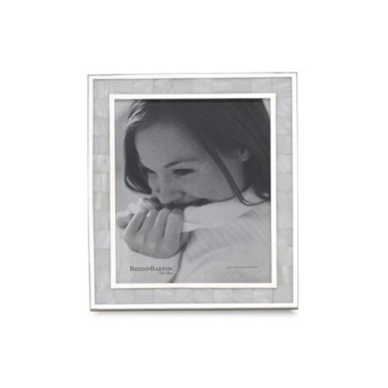 """Reed & Barton Mother of Pearl 5"""" x 7"""" Photo Frame"""