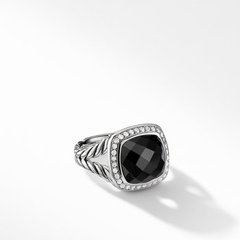 Ring with Black Onyx and Diamonds