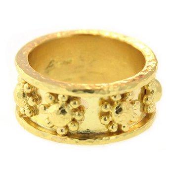 "Gold ""Daisy"" Flat Band"