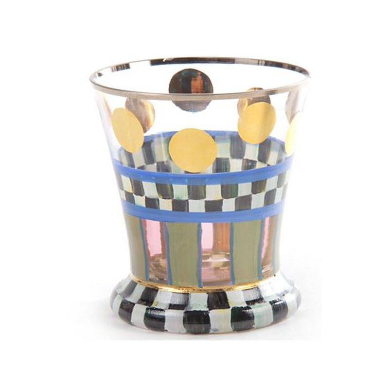 Mackenzie-Childs Speakeasy Old Fashioned Glass
