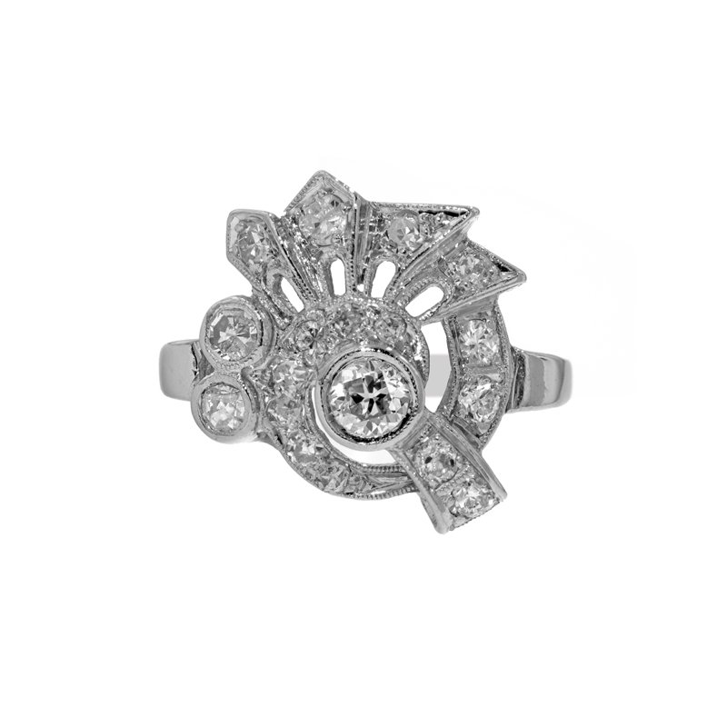 Estate Radcliffe Art Deco Diamond Ring