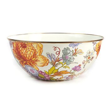Flower Market Large Everyday Bowl- White