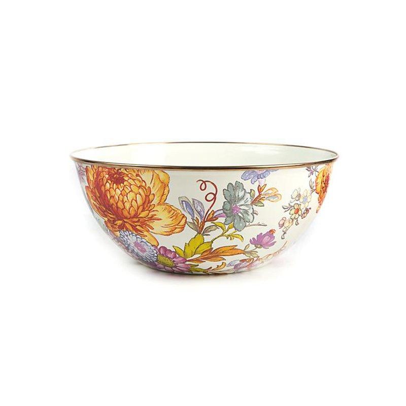 Mackenzie-Childs Flower Market Large Everyday Bowl- White