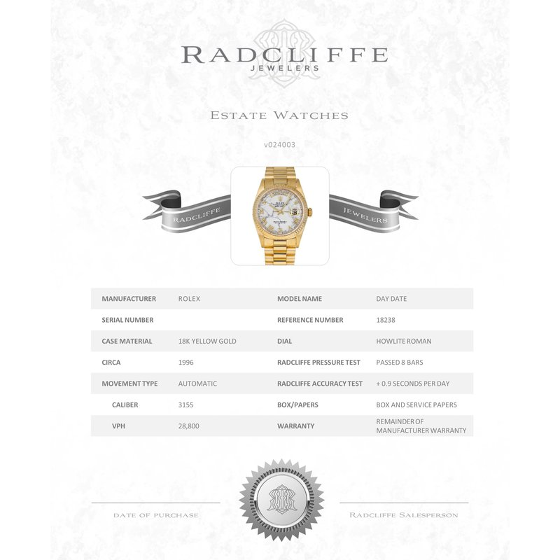 Pre-Owned Rolex Day-Date (Ref. 18238)